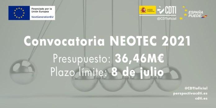 convocatoria NEOTEC 2021