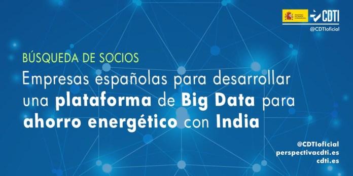busqueda de socios plataforma big data ahorro energetico con India