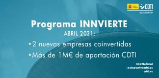 coinversión Innvierte mensual abril 2021