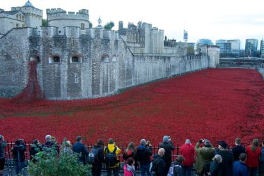 People viewing 'Sea of Red'