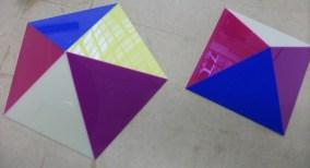 Multi-coloured display pieces
