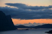 Åfjorden, Lihesten (left) and Alden (in the background). This is my Hyllestad from our balcony. Photo by Per Storemyr