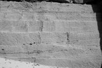 Tool marks in the New Kingdom part of the Nag el-Hammam sandstone quarry near Gebel el-Silsila. Photo by JAMES HARRELL.