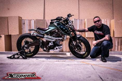 Modifikasi Yamaha Xabre Scrambler Concept Buntung Ala Minor Fighter