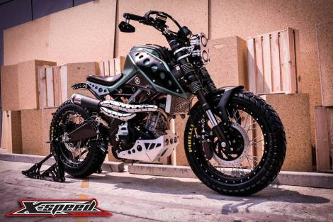 Modifikasi Yamaha Xabre Scrambler Concept Buntung Ala Minor Fighter 14 Pertamax7.com