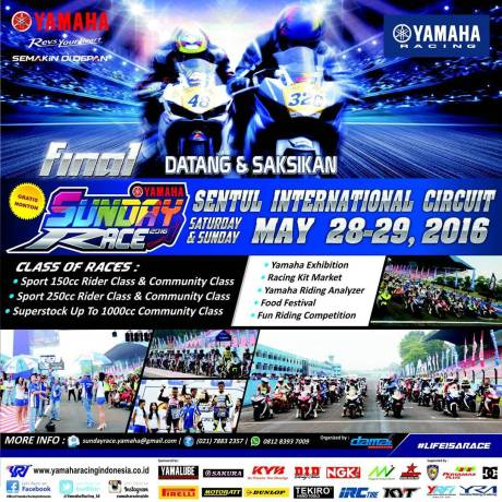 Final Yamaha Sunday Race Sentul 28-29 Mei 2016 pertamax7.com