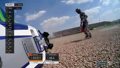 Jorge Lorenzo Crash Q2 MotoGp Germany 2016 Gravel