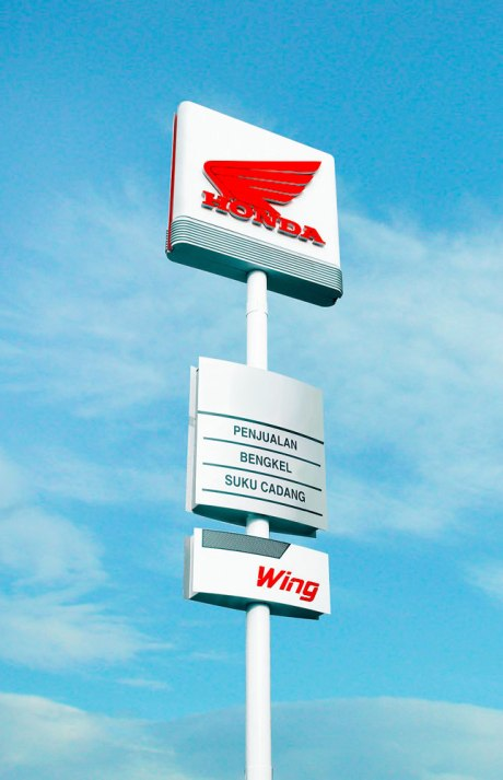 Pylon and Wing Signage Wing Dealer Honda Pertamax7.com