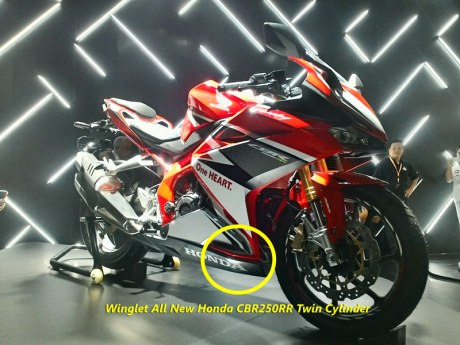 All New Honda CBR250RR Pakai Winglet
