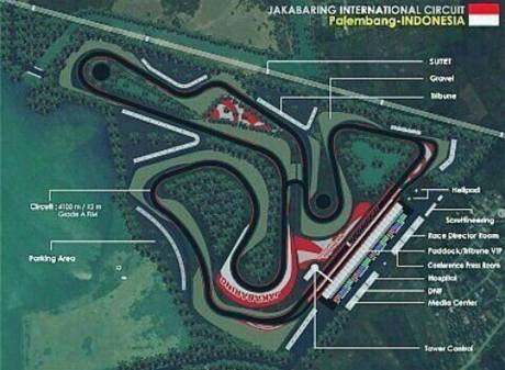 Layout Jakabaring Internation Circuit MotoGP Indonesia 2018 pertamax7.com