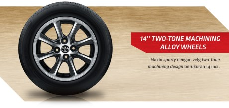Toyota Calya two tone alloy wheels pertamax7.com