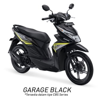 Warna All New Honda BeAT 110 eSP 2016 hitam garage black