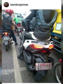 Stoplamp aka tailight Yamaha XMAX 250 versi 2017 Test Indonesia