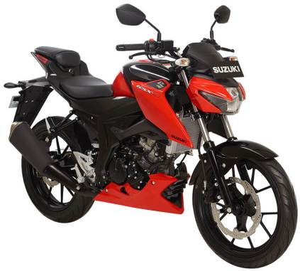 Suzuki GSX-S150 Warna Stronger Red Metalic black Pertamax7.com