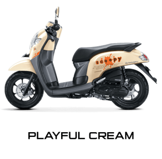 Honda All New Scoopy 2017 Playful Cream