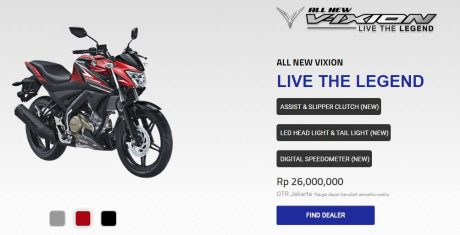 Yamaha ALL NEW VIXION LIVE THE LEGEND
