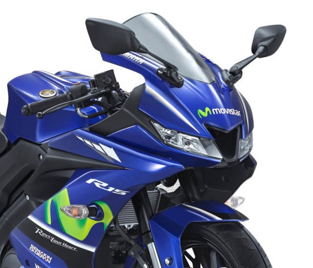 Lampu depan Yamaha All new R15 Movistar