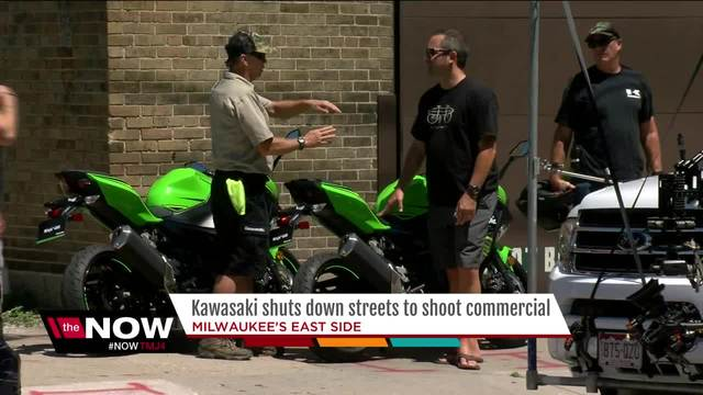 Shooting TVC Kawasaki Ninja 400 Milwaukee