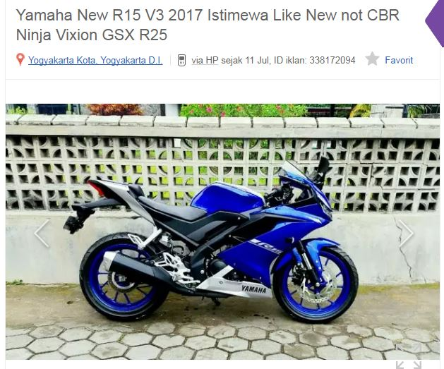 Yamaha All new R15 Seken di OLX