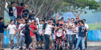 Gerry Salim Honda CBR250RR juara Race 2 Asia Production 250 ARRC 2017 Sentul