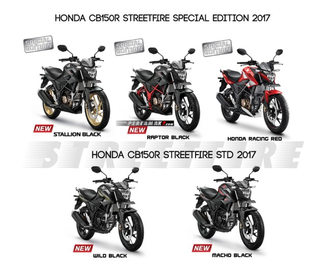 Warna Baru New Honda CB150R Streetfiire Model 2017-2018