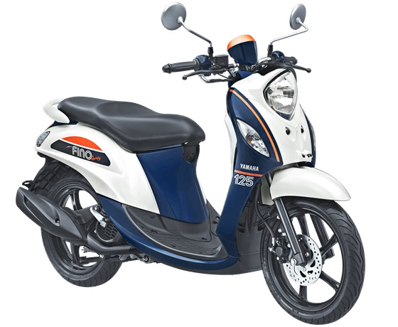 NEW FINO 125 BLUE CORE - SPORTY BAN LEBAR & TUBELESS warna putih jump white