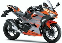 All new Kawasaki Ninja 250 FI Candy Burnt Orange ABS Tak Pakai Upside Down