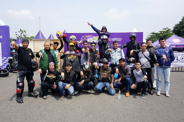 Komunitas Aerox 155 Riders Club Indonesia (ARCI) memeriahkan YRFI Great Weekend Yamaha Sunday Race seri 4