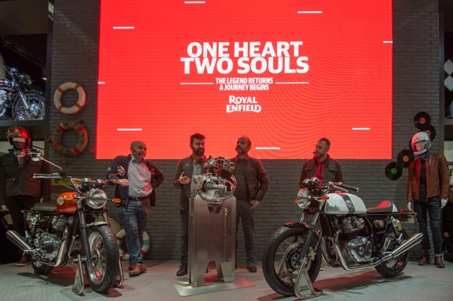 Launching Royal Enfield Interceptor INT 650 dan Royal Enfield Continental GT 650 EICMA