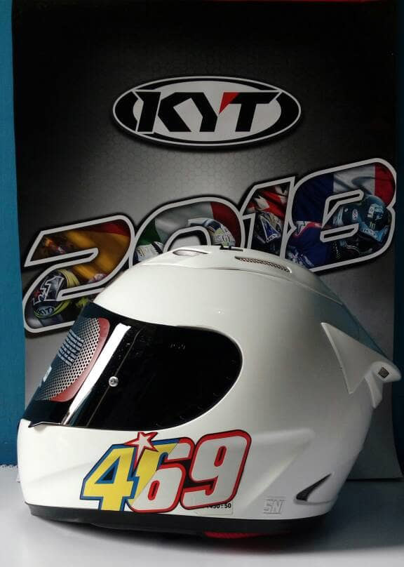 KYT RC7 Flat Visor Smoke tutup chazrib custome