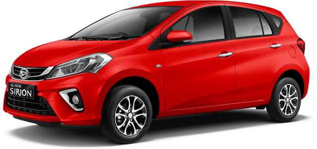 Daihatsu All new Sirion 2018 Warna Merah Lava Red