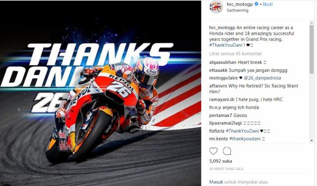 Thanks you dani pedrosa