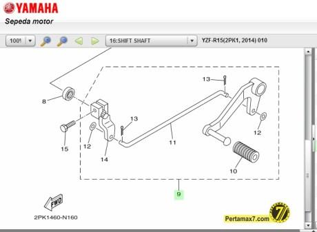 Pedal Shift Yamaha R15