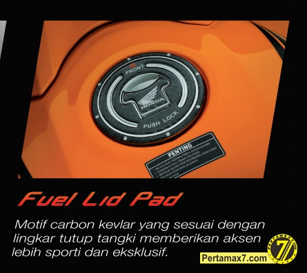 stiker tutup tangki all new honda CBR150R