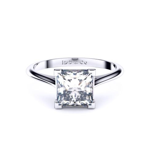 Princess cut solitaire Perth engagement ring
