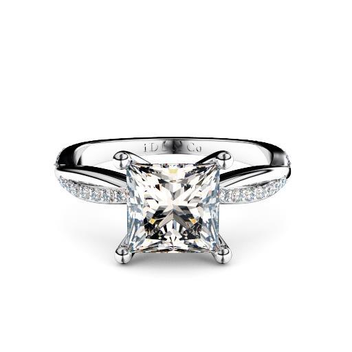 Perth diamonds engagement ring princess cut diamond with diamond twist band