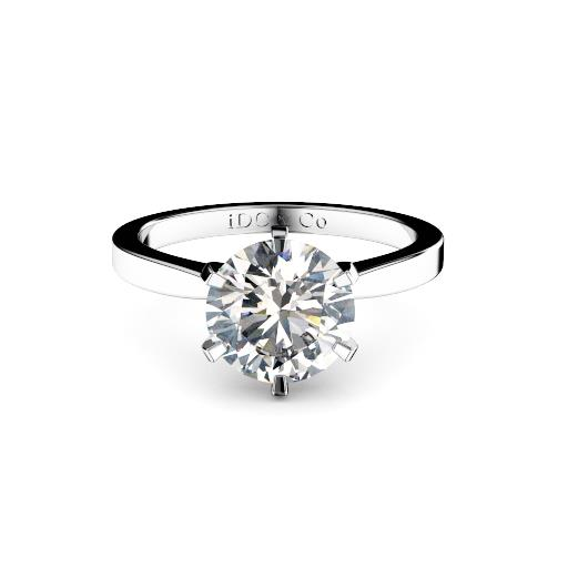 Perth diamonds engagement ring round with tapered band