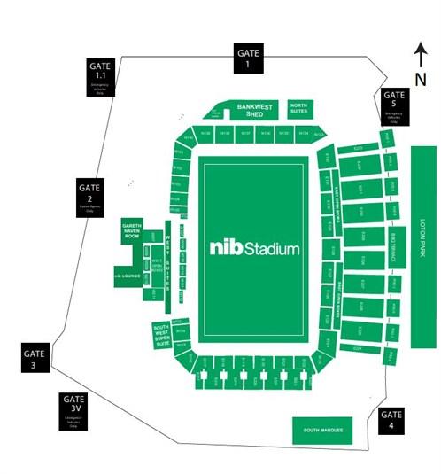 nib Stadium Venue Map