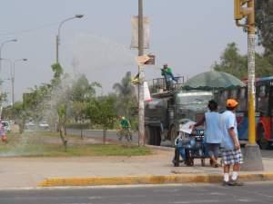 Bewässerung Parks Lima