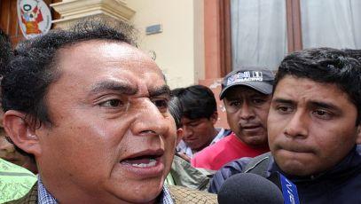 Santos dice que ministros que envía Valdés buscan provocara las autoridades y dirigentes cajamarquinos. (USI)