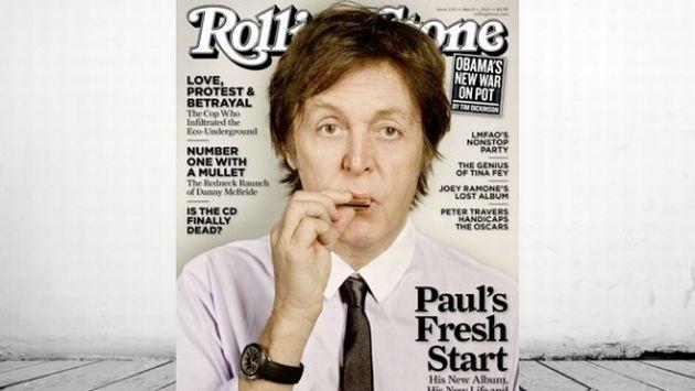 McCartney aparece en la portada de la última edición de la revista Rolling Stone. (Ecorazzi)