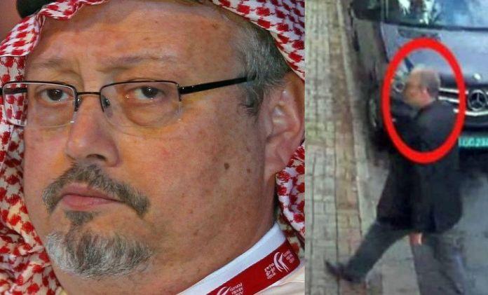 """Un alto oficial de la inteligencia saudí Maher Abdulaziz Mutreb pregunta si ya """"ha llegado el animal para ser sacrificado"""" y si deberían meterlo en una bolsa. (EFE)"""