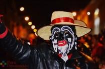 Los Negritos de Huallanca en la plaza de Huaraz