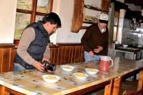 El Desayuno de Bienvenida, conjuntamente con Julio Cesar, El Sr. Edgardo, Daniel y mi persona