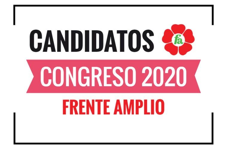 Candidatos al Congreso Frente Amplio 2020