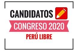 Candidatos al Congreso Perú Libre 2020