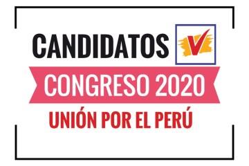 Candidatos al Congreso Unión por el Perú 2020
