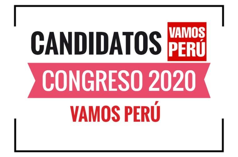 Candidatos al Congreso Vamos Perú 2020