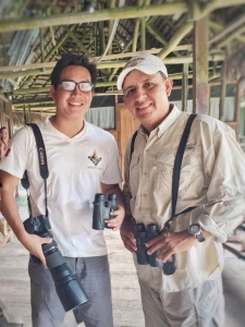 Photo of Birding Guide and Staff Biologist ready for bird tours