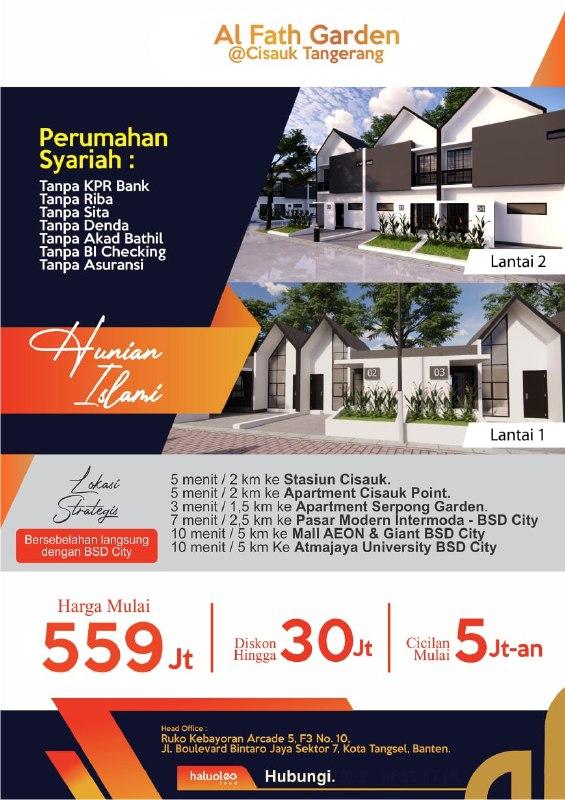 Al Fath Garden Rumah Murah Cisauk Tangerang